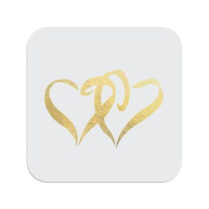 Two Hearts Envelope Seal-Gold