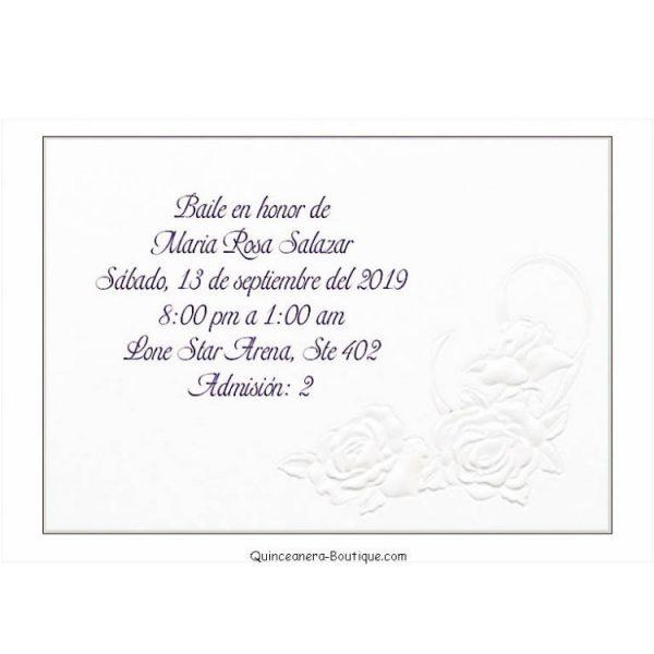 Dance Card – Delicate Roses