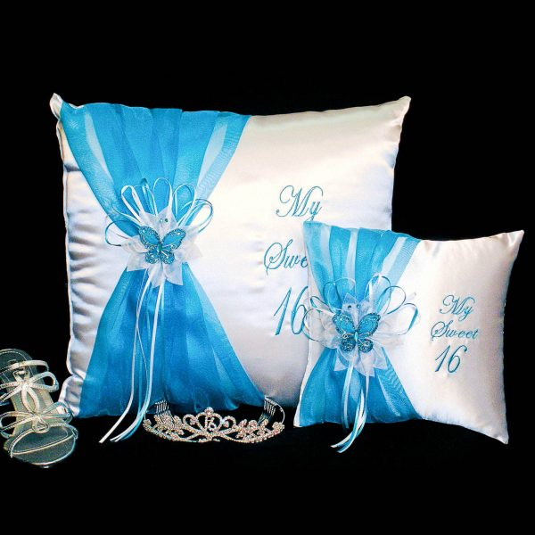 Festividades Ceremony Pillow Set in Turquoise