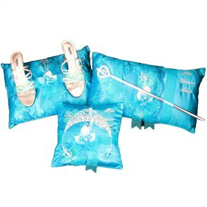 Fiesta Ceremony Pillow Set in Turquoise