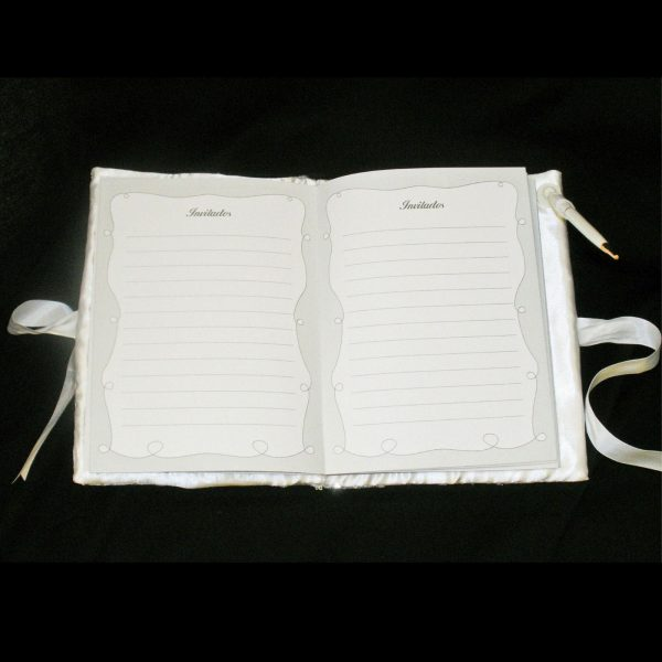 Guest Book with Pen - Open