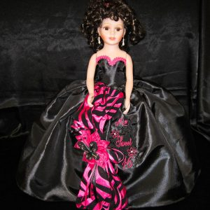 Quinceanera Zebra Doll