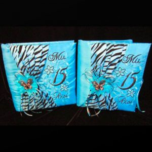 Zebra Book Set in Turquoise