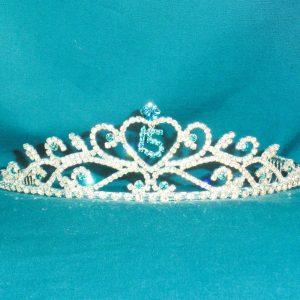 Crystal Tiara in Turquoise-15