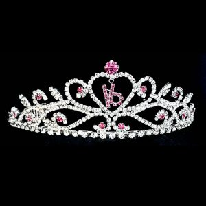 Crystal Tiara in Fuchsia-16