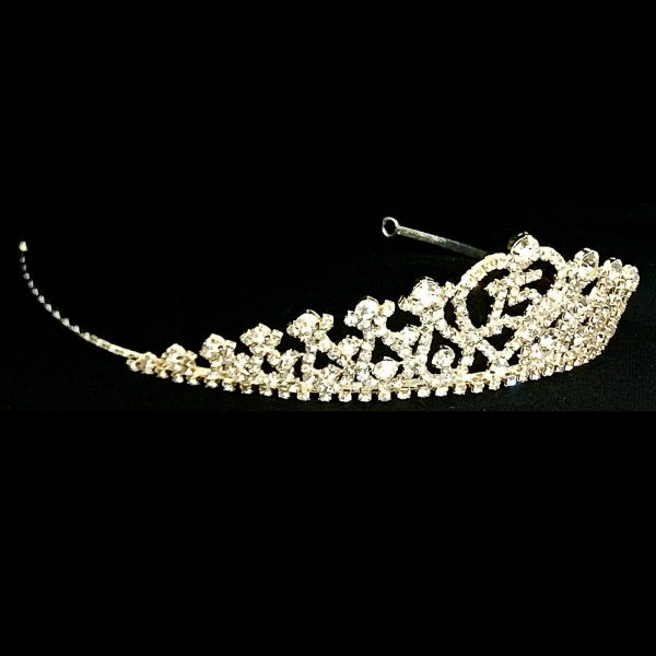 Quinceanera Tiara in Light Gold