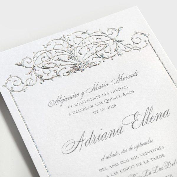 Tiara Border Invitation - Closeup