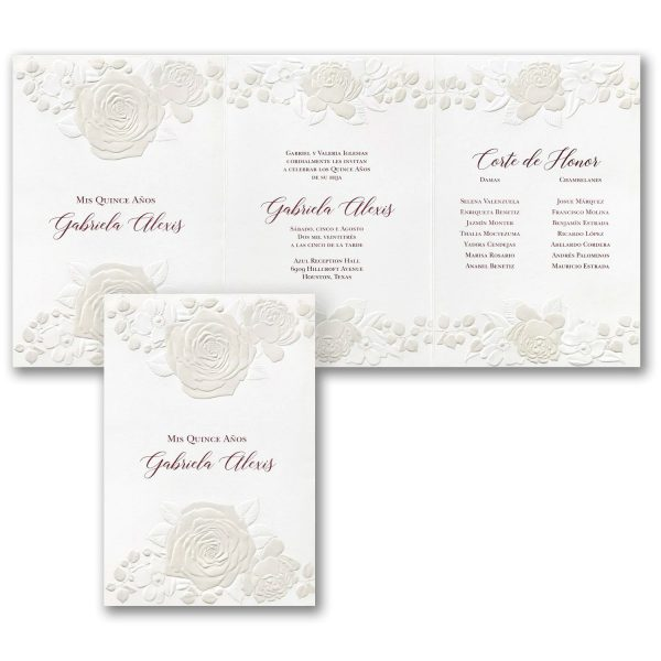 Roses - Quinceanera and Sweet 16 Invitation