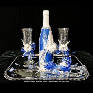 Elegance Toasting Set in royal Blue