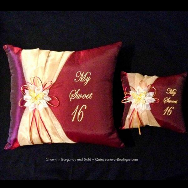 Celebration Pillow Set in Burgundy