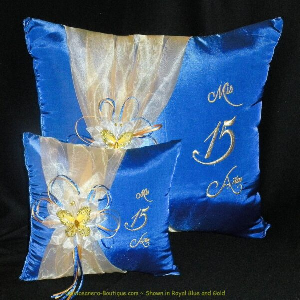 Celebration Pillow Set in Royal Blue