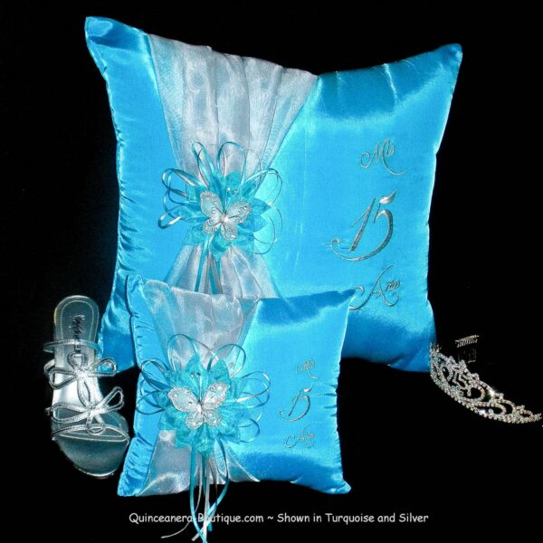 Celebration Ceremony Pillow Set in Turquoise