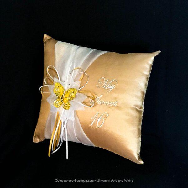 Celebration Tiara Pillow in Gold
