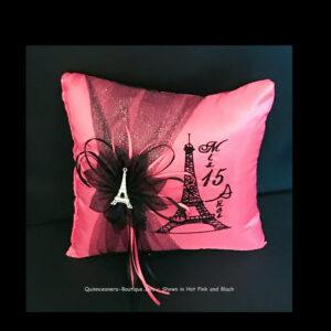 Paris Party Tiara Pillow in Hot Pink