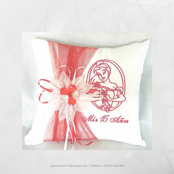 Belle Tiara Pillow in Red