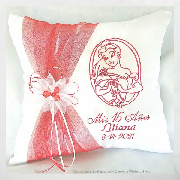 Belle Kneeling Pillow Personalized