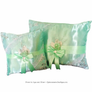 Sophistication Ceremony Pillow Set in Aqua